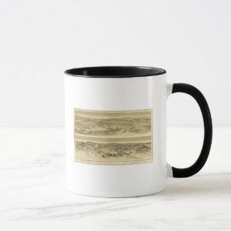 山Trumbullおよび山エマからの眺め マグカップ