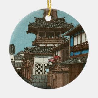 岡山Hasui Kawase向こうずねのhangaの鐘桜 セラミックオーナメント