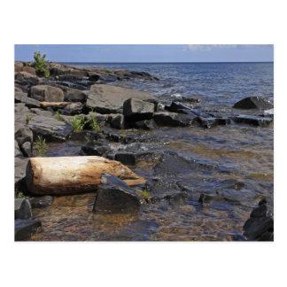 岩が多い海岸線 ポストカード