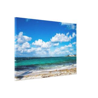 岩が多い熱帯Beach&Ocean キャンバスプリント