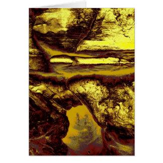 岩石彫刻の洞窟 カード