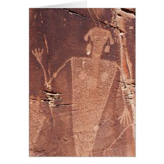 岩石彫刻は挨拶状を消します カード
