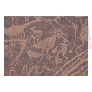 岩石彫刻 カード