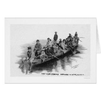 岬のエスキモー族到着のNome AK 1910年 カード