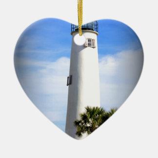 岬のセントジョージの灯台-セントジョージの島、FL セラミックオーナメント