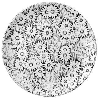 岬のデイジーの花 磁器プレート