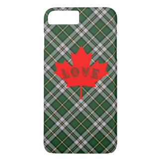 岬のブルターニュのタータンチェック格子縞の電話箱愛カナダ iPhone 8 PLUS/7 PLUSケース