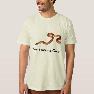 岬のムカデ食べる人のオーガニックなTシャツ Tシャツ
