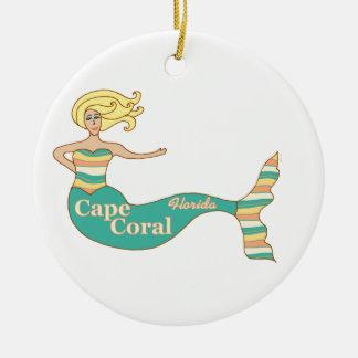 岬の珊瑚、FLの人魚 セラミックオーナメント