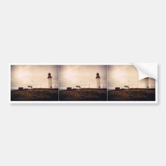 岬の競争の灯台 バンパーステッカー