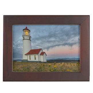 岬のBlancoの国家のオレゴンで最も古い灯台 ジュエリーボックス