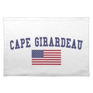 岬のGirardeau米国の旗 ランチョンマット