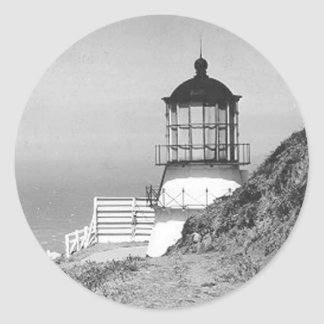 岬のMendocinoの灯台 ラウンドシール