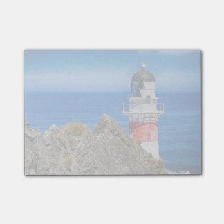 岬のPalliserニュージーランドの灯台 ポストイット