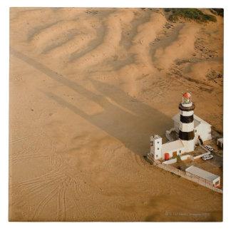 岬のRecifeの灯台、ネルソンの空中写真 タイル