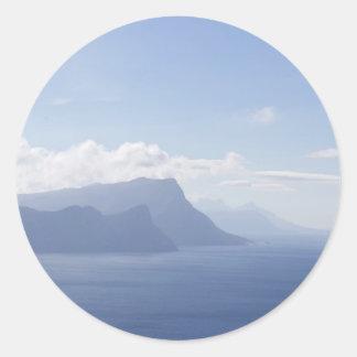 岬半島、南アフリカ共和国のステッカー ラウンドシール