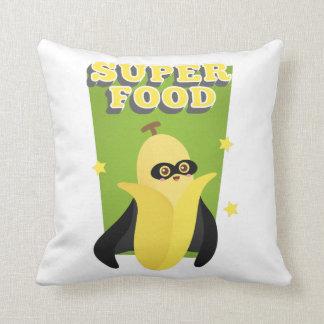 岬、フルーツのようなすごい食糧を持つかわいいバナナ クッション