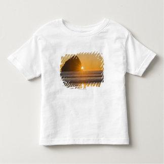 岬Kiwandaの日が差すことおよび三角波の石 トドラーTシャツ