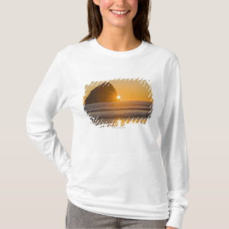 岬Kiwandaの日が差すことおよび三角波の石 Tシャツ