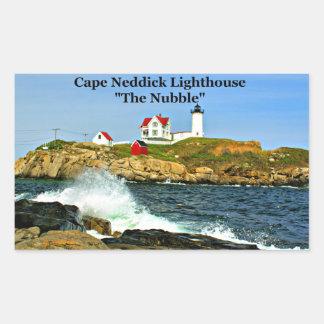 """岬Neddick、""""こぶ""""、灯台ステッカー 長方形シール"""