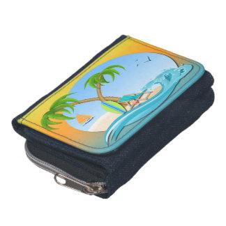 島によってはデニムの硬貨の財布の財布が夢を見ます