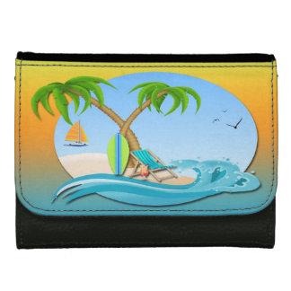 島によっては中型のLeatheretteの財布が夢を見ます