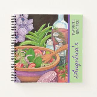 島のカフェ-サラダレシピ ノートブック