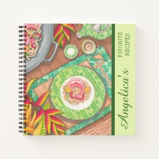 島のカフェ-混乱の揚げ物のレシピ ノートブック