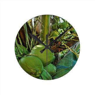 島のココナッツ ラウンド壁時計