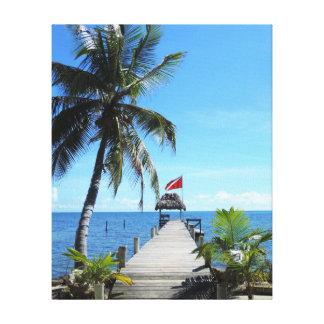 島のダイビング桟橋 キャンバスプリント