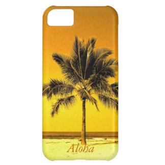 島のヤシの木のビーチ iPhone5Cケース