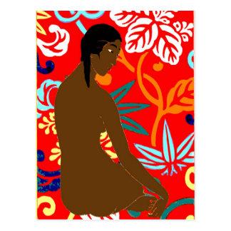 島の女の子、Gauguinのスタイル、 ポストカード
