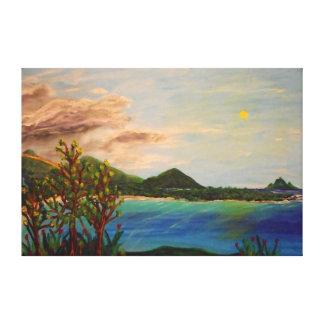 """島の時間-60"""" x 40""""ギャラリーの壁のキャンバス キャンバスプリント"""