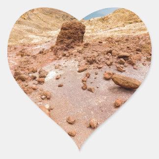 島の石とのMoonscapeの月の景色 ハートシール