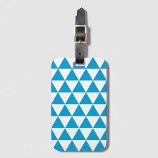島の青い三角形パターン手荷物のラベル ラゲッジタグ