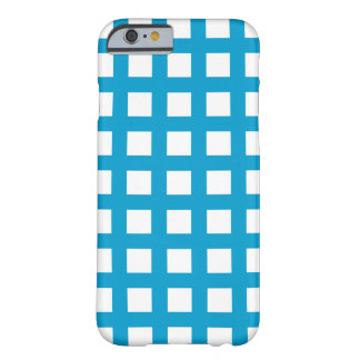 島の青いiPhone 6つのケース-格子点検 Barely There iPhone 6 ケース