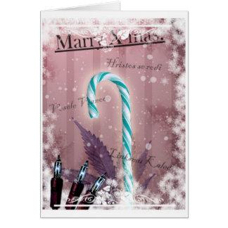 島のX-mas カード