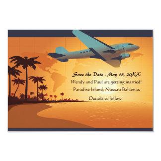 島飛行セーブ・ザ・デート案内 カード