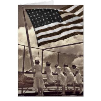 島1945年を見ているナース カード