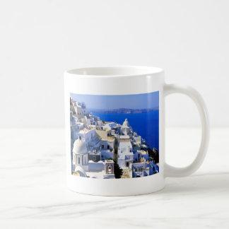 島、ギリシャ コーヒーマグカップ