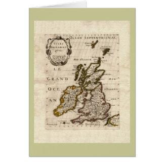 島Britanniques - 1700年のニコラスFils Sansonの地図 カード