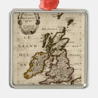 島Britanniques - 1700年のニコラスFils Sansonの地図 メタルオーナメント