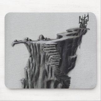 崖のファンタジーの城 マウスパッド