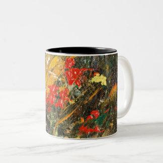 崖の住人の抽象芸術2 ツートーンマグカップ