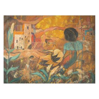 崖の住人の絵を描くこと テーブルクロス