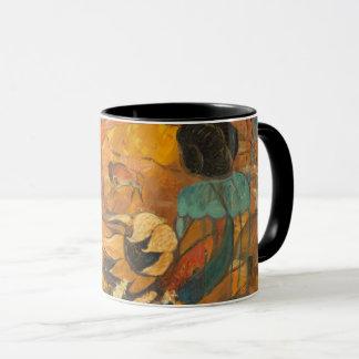崖の住人の絵を描くこと マグカップ