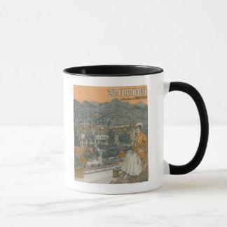 崖の家及び穂先のピーク マグカップ