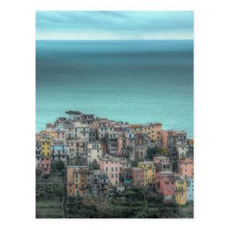 崖のCorniglia、Cinque Terreイタリア ポストカード