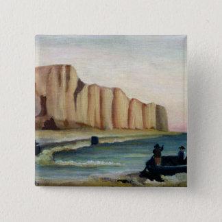 崖、c.1897 5.1cm 正方形バッジ