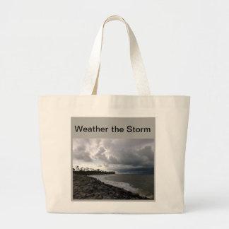 嵐のバッグを風化させて下さい ラージトートバッグ